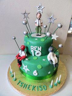 BDC 116  2 Tier Ben Ten cake  R 750.-