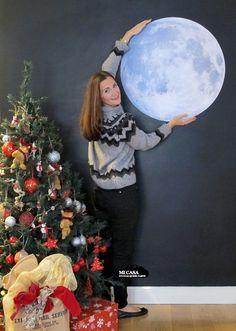 Decoracion de navidad con luna llena   Blog www.micasaencualquierparte.com