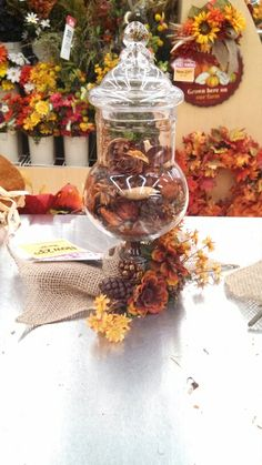 Kayla@michaels lisbon ct Apothecary jar with potpourri decor