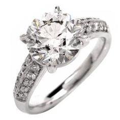 3.03 Carat Diamond Platinum Engagement Ring