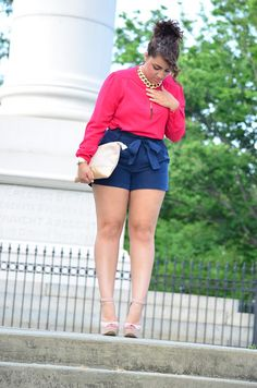 Lola à la mode representing for the thick and fit chicks fashion big curvy plus size women are beautiful! Love her outfit! Plus Size Chic, Look Plus Size, Curvy Plus Size, Plus Size Women, Curvy Girl Fashion, Look Fashion, Plus Size Fashion, Fashion Outfits, Womens Fashion