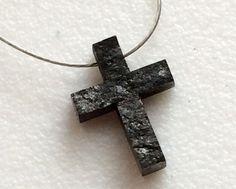 Black Rough Diamond Black Cross Diamond Drilled by gemsforjewels