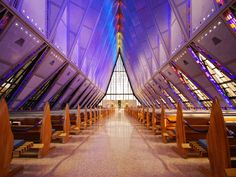 Air Force Academy Chapel (Inside)