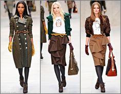Burberry Prorsum Fall Winter 2012-2013 LFW 09 /ruffle skirt