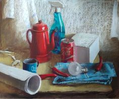 Something old, something new pastel by Silja Salmistu