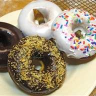 Three easy doughnut glazes: vanilla, chocolate, and apple cider.