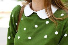 green with polkadots