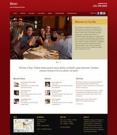 Rezo WordPress Theme is one of the most beautiful restaurant theme by Themify. Rezo Theme is especially developed for bars, restaurants, cafes and other food related business Web Themes, Website Themes, Food Themes, Page Template, Website Template, Templates, Online Marketing Companies, Wordpress Template, Premium Wordpress Themes