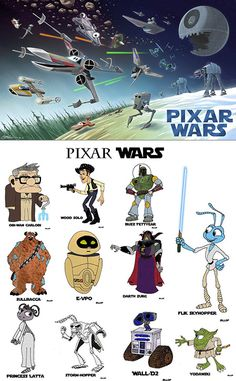 PIxar/Star Wars mashup because Disney acquires LucasFilm