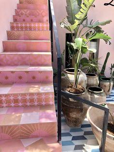 Popham design at La Vie Bohème on Ibiza Decorative Objects, Ibiza, Bunt, Tiles, Stairs, Cushions, Interior Design, Instagram, Creative