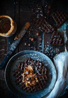 Healthier chocolate waffles