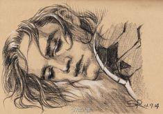 """备个份吧  """"Bucky sleeping like an angel……""""  by Steve"""