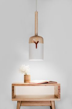 """A lamp from the collection of ceiling lights - """"Nut S"""". You can create your own interior by combining few small lamps. The product comprises different materials: wood, leather, metal, that guarantees its stylish look for any interior. Small Lamps, Unique Lamps, Best Desk Lamp, Clever Design, Big Design, Brand Design, Design Ideas, I Love Lamp, Create A Family"""