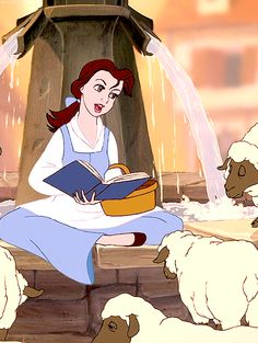 Belle reading to friends. This opening song was, and is, one of my favorite parts of this movie. :)