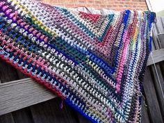 It's just a triangle shawl
