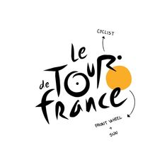 Le Tour de France - There are some really interesting secrets in this logo. The yellow circle is representing not only the sun, but the… Circle Logo Design, Circle Logos, Graphic Design, Logos Meaning, Logo Design Tutorial, Design Tutorials, Creation Site, Logo Process, Word Mark Logo
