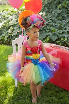 {adorable} rainbow party :: where was this at party time?