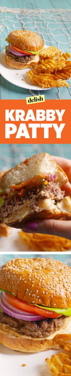 Ever wonder what a Krabby Patty tastes like? Now you can find out. Get the recipe on Delish.com.