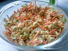 """Mittwoch der Rezepte bei Nini: Hier das für einen Möhren-Kichererbsen-""""Eiersalat"""" mit Tofu und Sojamayo."""