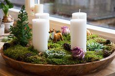 Julen 2015 starter med en smuk hjemmelavet adventskrans - denne er nem og smuk - og spreder den dejligste julede hyggestemning