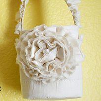 Fun   Frayed Flower Girl Basket