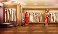 EXT. WEDDING DRESS SHOP - DAY (yes EXT.)