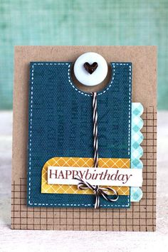 Birthday Card...like the layering.