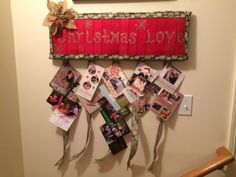 My creation to display Christmas cards
