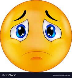 Illustration about Cute emoticon making a sad face. Illustration of color, cartoon, emoji - 18589362 Symbols Emoticons, Funny Emoticons, Emoji Symbols, Images Emoji, Emoji Pictures, Smiley Emoticon, Emoticon Faces, Smiley Triste, Crying Emoji