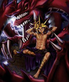 Pixiv Id 1527646, Yu-Gi-Oh! Duel Monsters, Yu-Gi-Oh!, Pharaoh Atem, Slifer the Sky Dragon, Yami Yugi