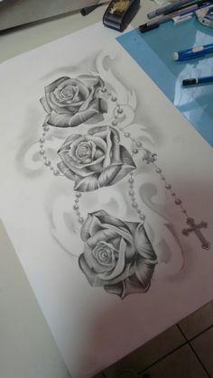 Tattoos for men Rose Tattoos For Women, Blue Rose Tattoos, Flower Tattoos, Tattoos For Guys, Neue Tattoos, Body Art Tattoos, Hand Tattoos, Small Tattoos, Rose Drawing Tattoo