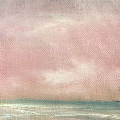 Cotton Candy Clouds - tiny oil painting by Judy Jacobs
