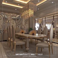 Luxury Dining Room, Dining Room Design, Luxury Living, Kitchen Design, Architect Design House, House Design, Dining Room Furniture Sets, Luxury Homes Dream Houses, Curtain Designs