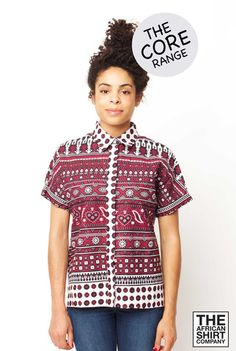 PLUM TRIBE Strong burgundy basewith a deep black andbright white patt... click for more information