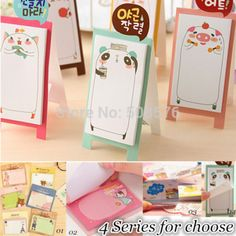 NEW Korea stationery Pretty kawaii cartoon Sticker Post It Bookmarker memo pad flags sticky note