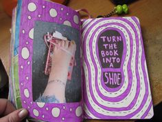 wreck this journal turn the book into a shoe