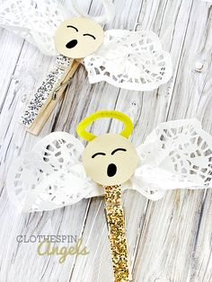 Glitter Clothespin Angels Craft Christmas Craft