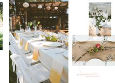 this twig and brown paper set up on the tables is so beautiful!