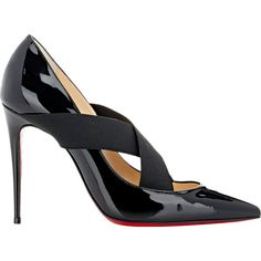 Christian Louboutin Patent Leather Sharpstagram Pumps ($725) ❤ liked on Polyvore featuring shoes, pumps, black, black high heel shoes, black patent pumps, black shoes, high heels stilettos and high heel shoes