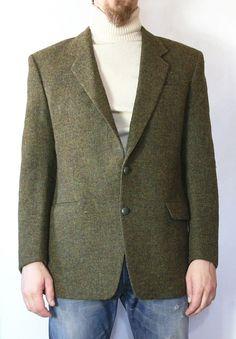 Harris Tweed Korn Paris Blazer Jacket Pure NEW Wool M IN France SZ 44 | eBay