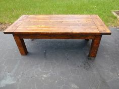 Rustic Coffee Table by ForneyFurnishings on Etsy