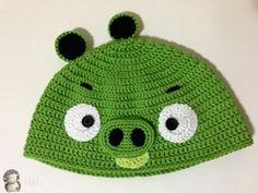 MADRES HIPERACTIVAS: Gorro a Crochet Bad Piggy (de Angry Bird), Patrón Gratis