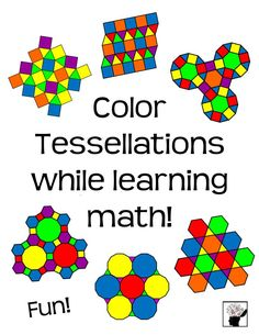 Students love to color! Have your students color tessellations while developing their math skills.