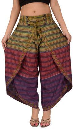 Skirts N Scarves Women's New Cotton Embroidered Aladdin Dhoti/harem Pant (Multi) Abaya Fashion, Fashion Pants, Indian Fashion, Fashion Outfits, Casual Work Outfits, Pretty Outfits, Ropa Shabby Chic, Kurta Patterns, Stitching Dresses