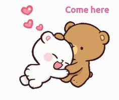 Cute I Love You, I Love You Images, Love You Gif, Cute Love Gif, Cute Cartoon Images, Cute Cartoon Wallpapers, Sweet Message For Girlfriend, Cute Hug, Bear Gif