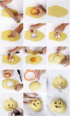 Empanadas mini de calabaza, bacon y queso para Halloween. Receta paso a paso | La Cucharina Mágica