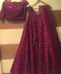 Maroon Net New Party Lehenga Crop Top Blouse Online Lehnga Dress, Bridal Lehenga Choli, Indian Lehenga, Indian Gowns, Pakistani Dresses, Saree, Lehenga Dupatta, Designer Bridal Lehenga, Sari Blouse