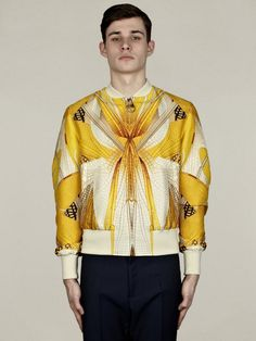 Alexander McQueen Men's Dragonfly Wings Silk Bomber Jacket | oki-ni