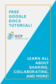 Google Drive makes sharing your files simple. It also allows multiple people to edit the same file, allowing for real-time collaboration. Learn all about it with this free tutorial from GCFLearnFree.org.