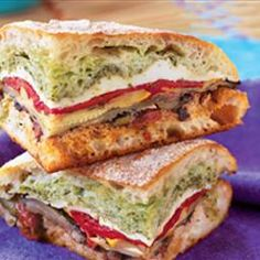 Mediterranean Pressed Picnic Sandwich. This sandwich turns take-along food flaws—travel time, cramped packing quarters, moist ingredients—into assets. Pressing the sandwich lets the crusty bread soak up roasted vegetable juices, and travel time gives flavors a chance to meld.